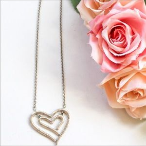 Brighton Silver Tone Heart Pendant Necklace